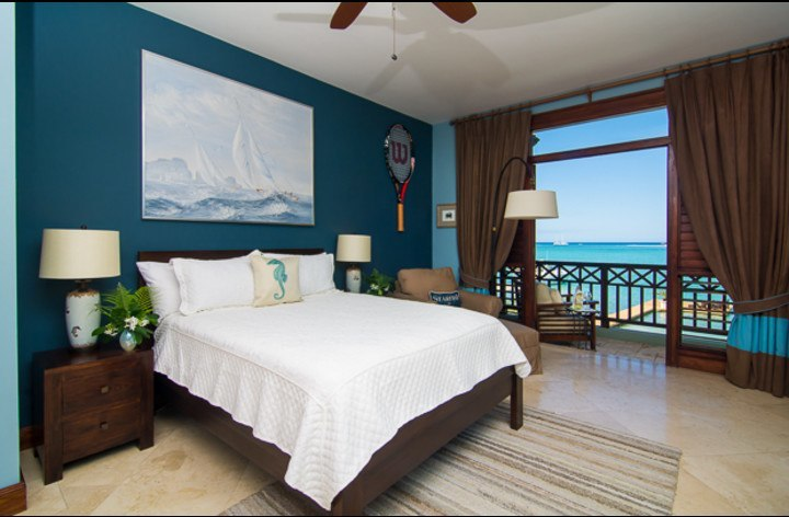 Upstairs guest room #4 with ocean view and private balcony